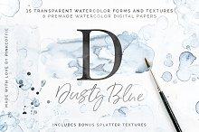 40% Off Dusty Blue Watercolor Kit