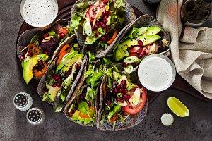 Gluten-free vegan tacos from black b