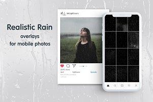 Rain Mobile Overlays