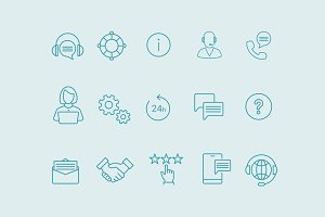 15 Customer Service Icons