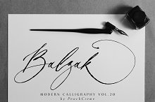 Balzak // Organic Calligraphy SALE by  in Script Fonts