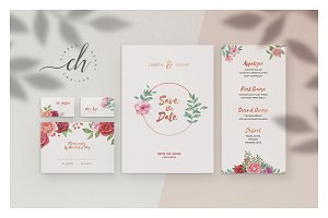 Garnet • Wedding Invitation Suite