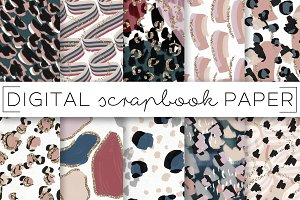 Muted Leopard Print Paper Set