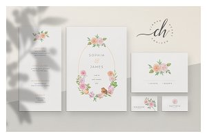 Coral • Wedding Invitation Suite