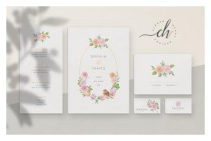 Coral • Wedding Invitation Suite