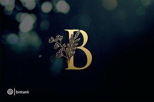 Golden B Letter Logo