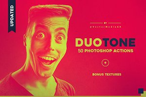 Duotone Photoshop Actions ~ $3 OFF