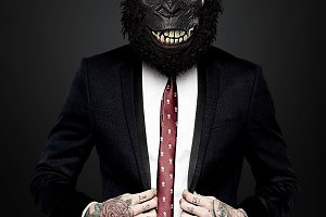 Gorilla Man With Suit
