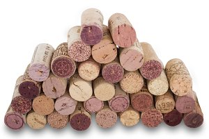 Set of cork stoppers for wine, isola
