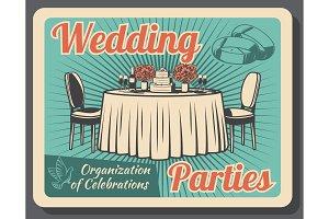 Marriage celebration, wedding party
