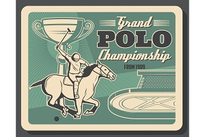 Horserace club, polo tournament