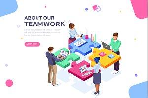 Startup Website Template Banner