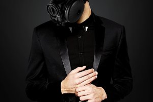 Gas Mask Man With Suit