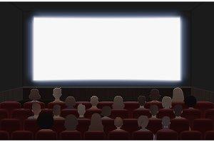 People watching movie at cinema