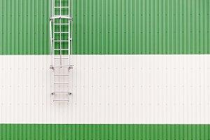 Minimalist industrial warehouse wall