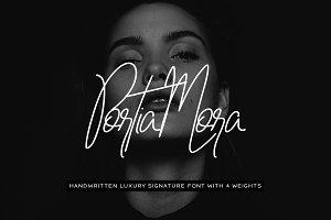 Portia-Mora Handmade Signature Font