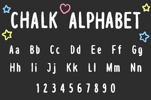 Vector Chalk Alphabet