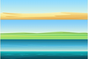 Horizontal nature banners landscapes