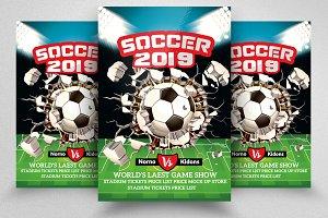 Football 2019 Match Flyer Templates