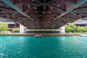 Under a Bridge Chicago's River Walk