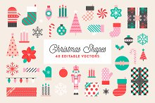 Christmas Shapes & Patterns by  in Illustrations