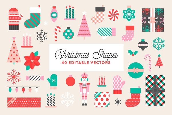 Illustrations - Christmas Shapes & Patterns