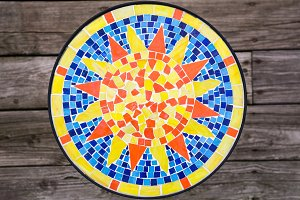 Sun Mosaic Table