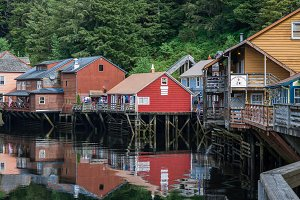 Houses on Stilts in Alaska