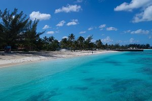 Beach Scene in Bahamas