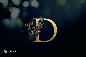 Golden D Letter Logo