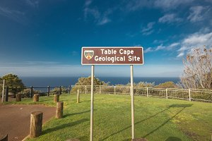 View from the Table Cape in Tasmania