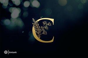 Golden C Letter Logo