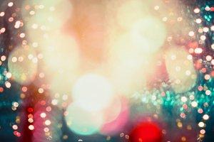 Lighting bokeh , colorful event