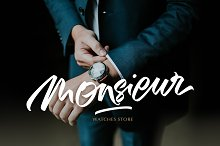 Mansions Brush Script by  in Script Fonts