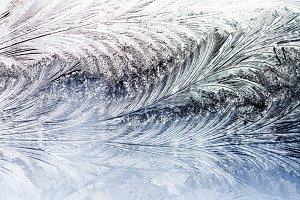 frost patterns on the winter window