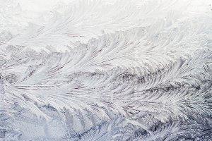 frosty pattern on the window
