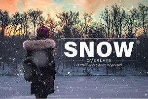 25 Snow Photoshop Overlays