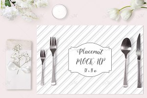 Wedding Placemat Mock-up. PSD Smart