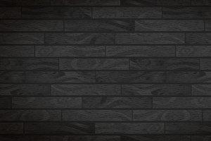 Dark realistic wide wooden boards
