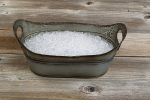 vintage tub bucket filled with ice