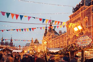 New year's fair on red square
