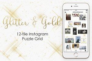 Instagram Puzzle Grid - Gold
