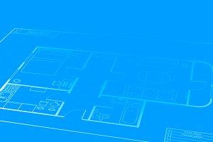 Engineering blueprint plan