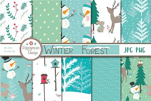 Winter Forest paper