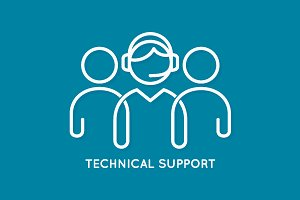 Technical support line concept.
