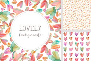 Lovely Backgrounds - Watercolor
