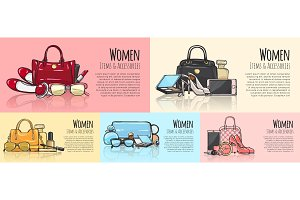 Women Items and Accessories. Set of