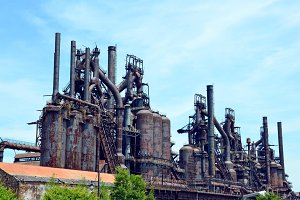 Steel Mill Blast Furnaces Photo