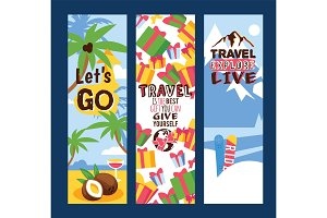 Travelling concept set of banners
