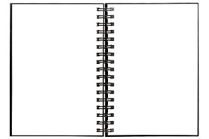 Open spiral binder book isolated JPG